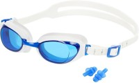 HE Retail UV Protection Ear Plug & Swimming Goggles (Blue)