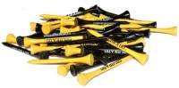 Team Golf NCAA Colorado Team Tees Golf Tees (Pack Of 50, Yellow, Black)