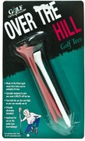 Golf Gifts & Gallery Over The Hill Tees Golf Tees (Pack Of 6, Multicolor)