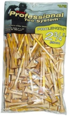 Pride Professional Tee System ProLength Tee, 2-3/4 Inch Golf Tees (Pack Of 100, Yellow)