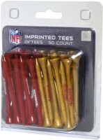 Team Golf NFL San Fransisco 49ers Team Tees Golf Tees (Pack Of 50, Red, Golden)