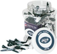 Team Golf NFL New York Jets Jar Golf Tees (Pack Of 175, Black, White)
