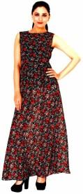 Damsel Printed Long Dress