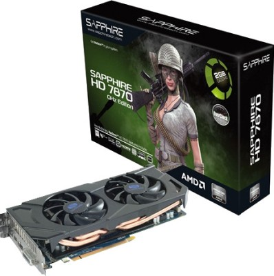 Buy Sapphire AMD/ATI HD 7870 HDMI OC Edition 2 GB GDDR5 Graphics Card: Graphics Card