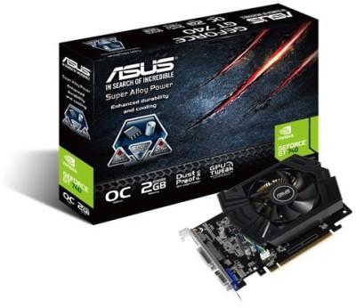 Asus NVIDIA Asus Gt 740 Oc 2gb Ddr5 2 GB GDDR5 Graphics Card (Black)
