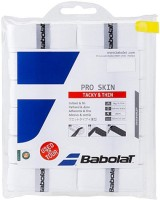 Babolat Pro Skin Tacky Touch  Grip (White, Pack Of 12)