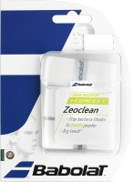 Babolat Zeoclean Overgrip Dry Feel Grip (White, Pack Of 3)