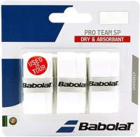 Babolat Pro Team SP Tacky Touch  Grip (White, Pack Of 3)