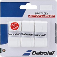 Babolat Pro Team Tacky Touch  Grip (White, Pack Of 3)