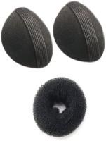 Pankh Puff And Donut Bun Maker Hair Accessory Set (Black)