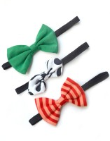 A.T.U.N. Thin Elastics Hair Band (Green, White, Red)