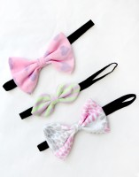 A.T.U.N. Thin Elastics Hair Band (Pink, Green, White)
