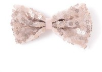 Angel Closet Bow With Glitter Flowers Hair Clip (Brown)