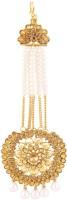 I Jewels Traditional Gold Plated Deepika Padukone Inspired Stone Passa Tikka Hair Accessory Set Gold