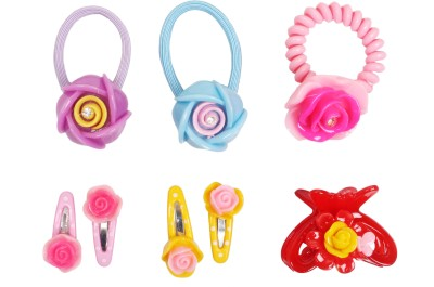 Takspin Hair Accessories Takspin Colorful Flower Combo Hair Accessory Set
