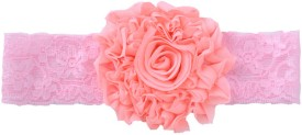 PinkXenia Shabby Flowers Rosset Chiffon Newborn Soft Head Band