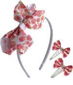 Hopscotch Hair Accessories Hopscotch Floral Ribbon Hair Accessory Set