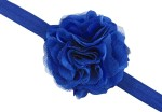 PinkXenia Hair Accessories PinkXenia Blue Elastic Rosset Head Band