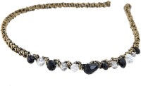 Young & Forever Juliette Headband Hair Band (Black, Gold)