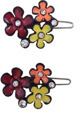 B Fashionable Hair Accessories B Fashionable Three Flower Multi Colour Wire Clasp Hair Pin