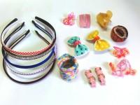 Samyak Adorable 01 Hair Clip, Hair Band, Rubber Band, Tic Tac Clip, Hair Clip Multicolor