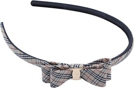 Buds N Blossoms British Style Check Print With Bow Knot Hair Band