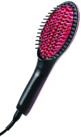 Simply Straight Simply Straight Ceramic Brush Hair Straightener, Black/Pink