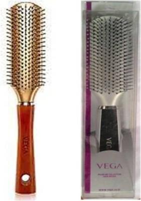 Vega Premium Flat Hair Brush E3-FB & Flat Brush H2-FB (Pack OF 2)