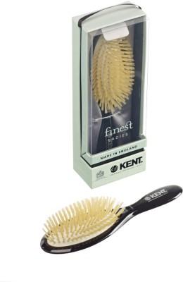 Kent Hair Brushes Kent Ruby Pure Soft White Natural Bristle Medium Dressing & Styling Premium Brush