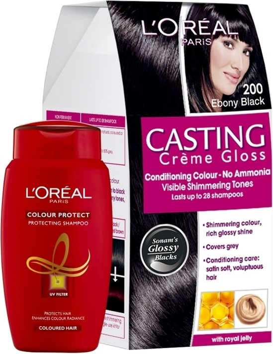 L Oreal Paris Casting Creme Gloss Ebony Black 200 With