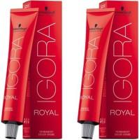 Schwarzkopf Professional Igora Royal Pack Of 2 Hair Color (1-0 (Natural Black))