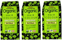 Radico Certified Organic & 100% Natural- SOFT BLACK ( Set Of 3 Boxes ) Hair Color (Soft Black)