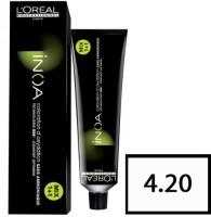 L'Oreal Paris Inoa Hair Coloring Cream Hair Color (4.20 Extra Burgundy Brown)