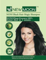 New Moon Noni Instant Color Shampoo 10 Sachets  Hair Color (Natural Black)
