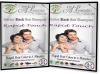 Rapid Touch Herbal Black Shampoo Hair Color (Natural Black Hair Color Multipiece Pack Of 10 Sachets)