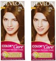 Revlon Color N Care Permanent Hair Color Cream - Brown Black 2N - Pack Of 2 Hair Color - Brown Black