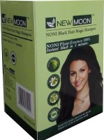 New Moon ( Pack Of 10 ) Noni Shampoo Dye Ammonia Free Hair Color (Natural Black)