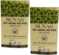 Radico Sunab Herbal Soft Black  Hair Color (Soft Black)