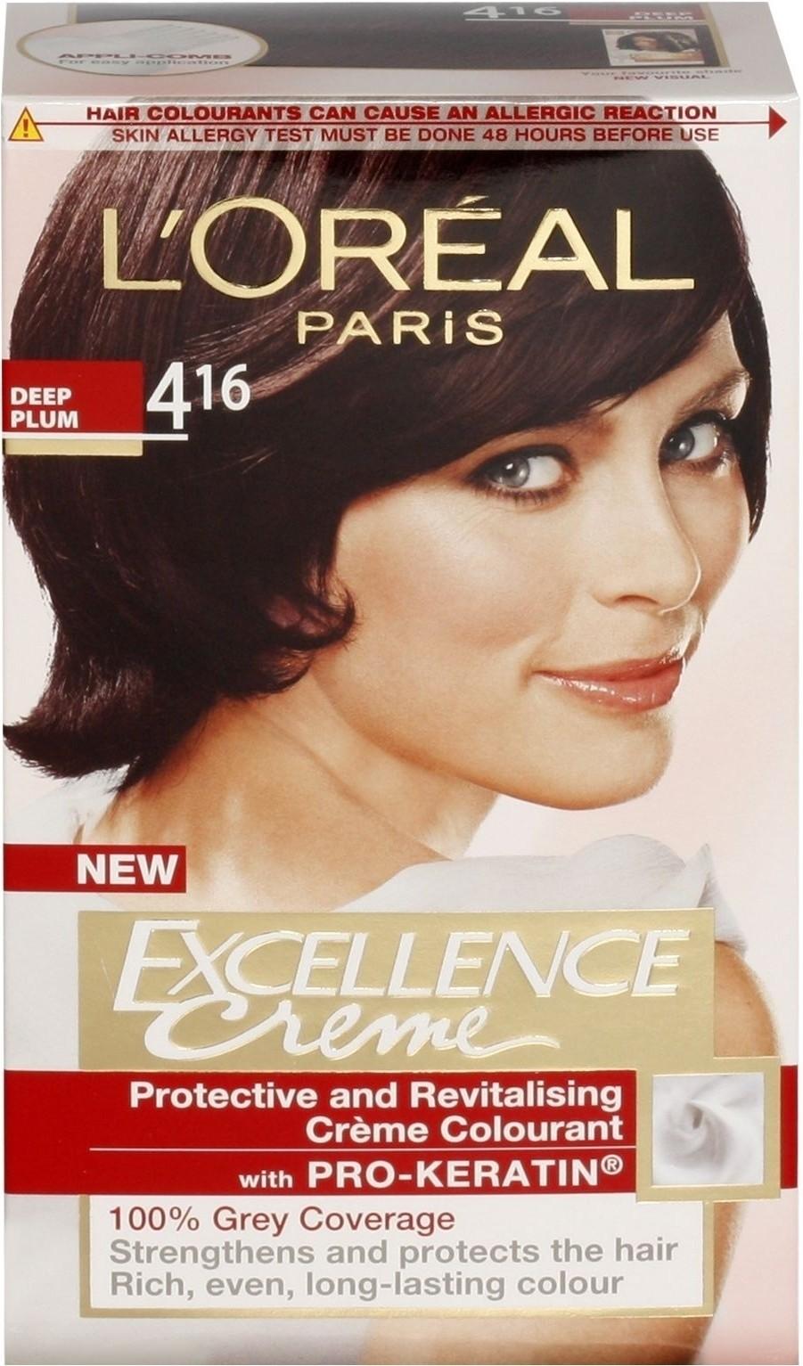 6b283e712 Buy Loreal Paris Excellence Creme Hair Color Deep Plum - 4.16   ₹ 559 by Loreal  Paris from Flipkart
