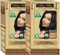 Indus Valley 100% Organic Botanical Indus Black- One Touch Pack- 2 Set- Hair Color (Indus Black)