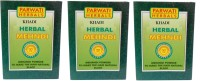 Khadi Herbal Black Mehndi Pack Of 3 Hair Color (Black)