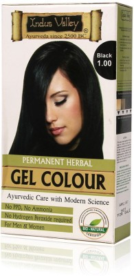 Indus Valley Hair Colors Indus Valley Permanent Herbal Black 1.0 One Time Use Hair Color