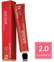 Matrix Socolor Permanent Cream  Hair Color (2.0 Black)