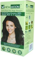 New Moon ( Pack Of 80 ) Noni Natural Dye Shampoo Hair Color (Natural Black)