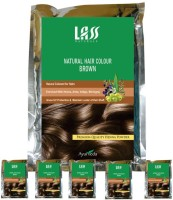 Lass Naturals Pack Of 6 Brown Hair Color (Pure Brown)