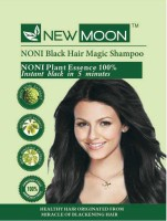 New Moon ( Pack Of 40 ) Noni Henna Herbal Dye Shampoo Hair Color (Natural Black)