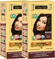 Indus Valley 100% Organic Botanical Dark Brown USDA Certified (Twin Pack) Hair Color (Dark Brown)