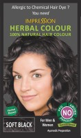 Impression 100% Chemical Free Natural Hair Color (Soft Black)