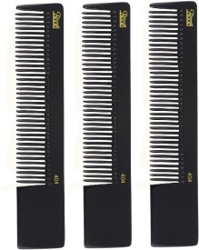 Roots Professional Cutting Combs - Black - Pack of 3