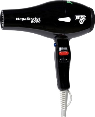 ETI Italy 5000 Professional 2500 Watts AC Motor Mega Stratos Hair Dryer (Black)